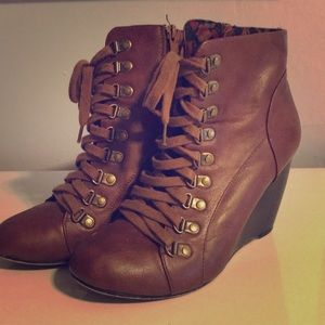 Madden Girl Wedge Booties - Size 10